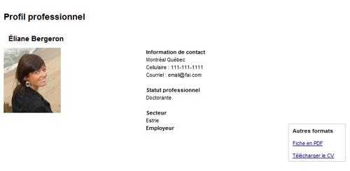 Gi² professional profiles module